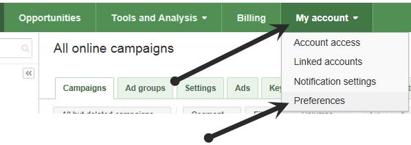 Linking Adwords to Analytics