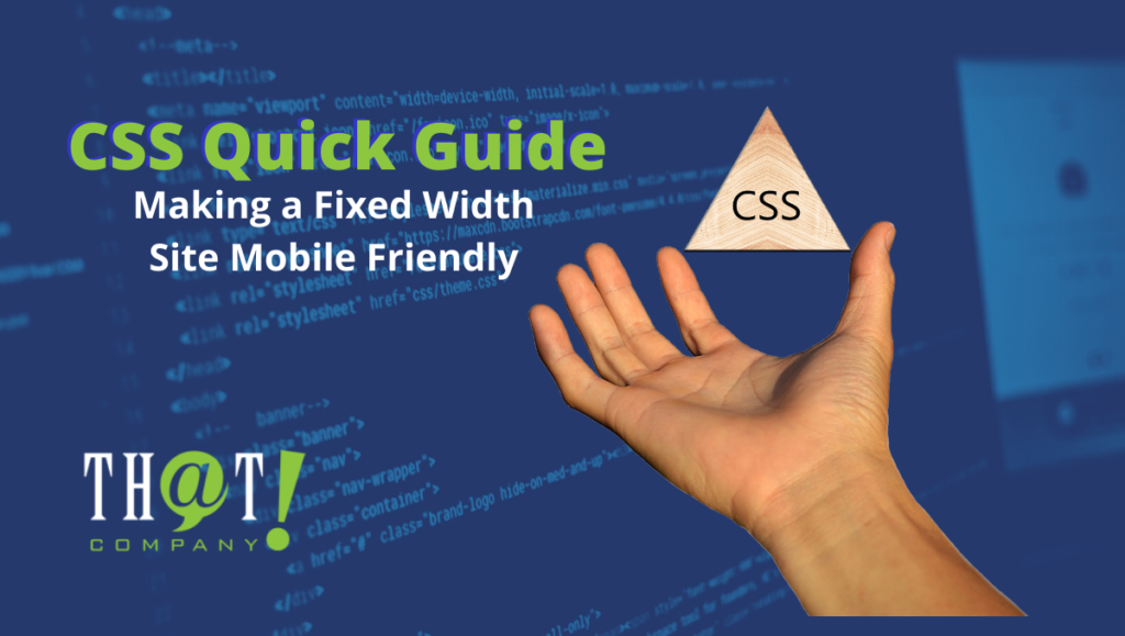 css making fixed width mobile friendly