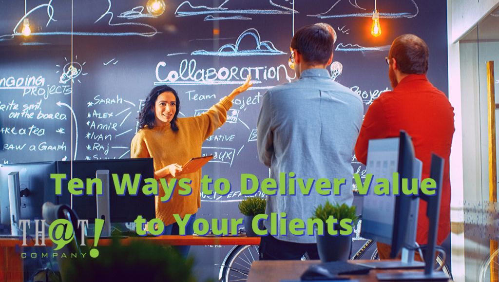 10 ways Agencies can Deliver Value