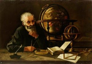 Account Manager Philosopher Thinking Next to a Globe