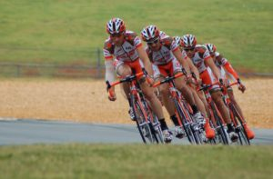 men biking in a competition- ppc is also very competitive