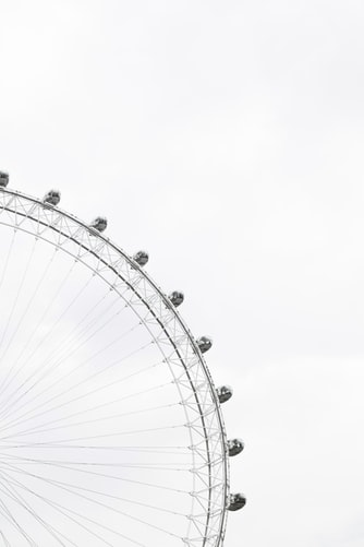ferris wheel on a gray sky