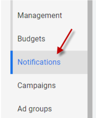 Step 3 to find Google Ads COVID Credits