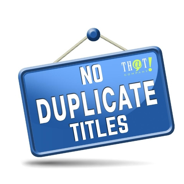a successfull search engine optimization campaign will have NO DUPLICATE TITLES
