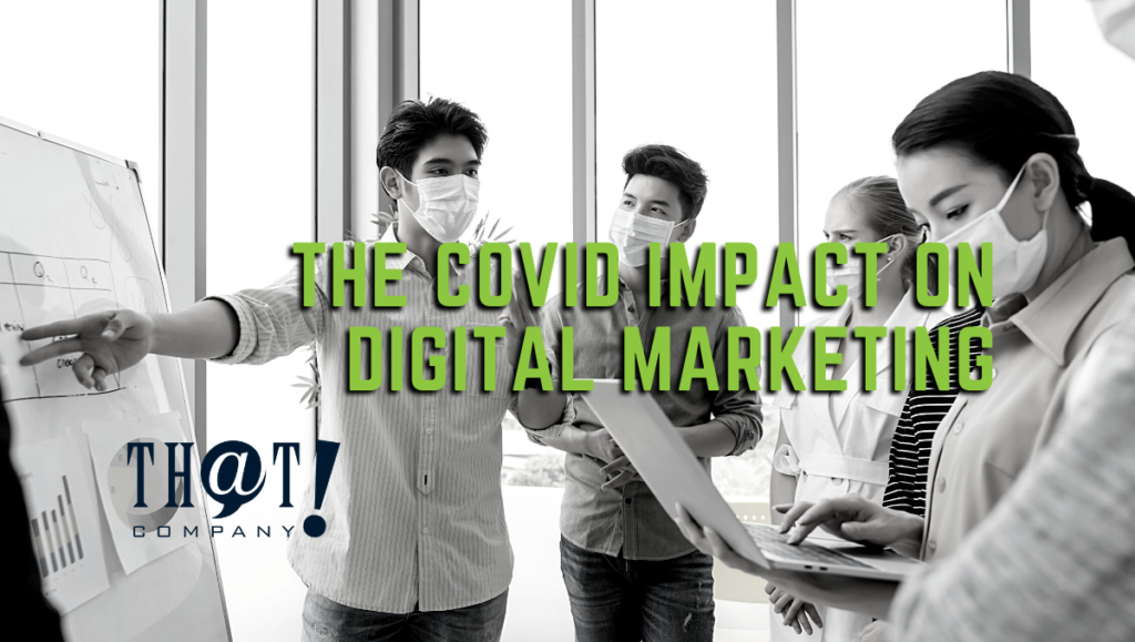 The COVID Impact on Digital Marketing | Co Workers in a Meeting Wearing Masks