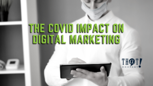 COVID's Impact on Digital Marketing | Man wearing Mask on a Tablet