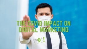Dont Let COVID Impact Your Digital Marketing   Man Holding Up Hand to Stop