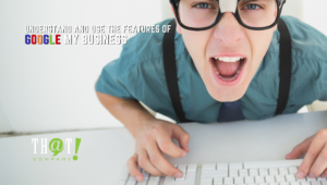 Using the Features of Google My Business | Man Angry on Keyboard