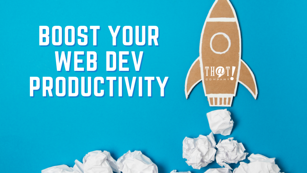 Boost Your Web Productivity | Cartoon Rocket Ship Blasting Off