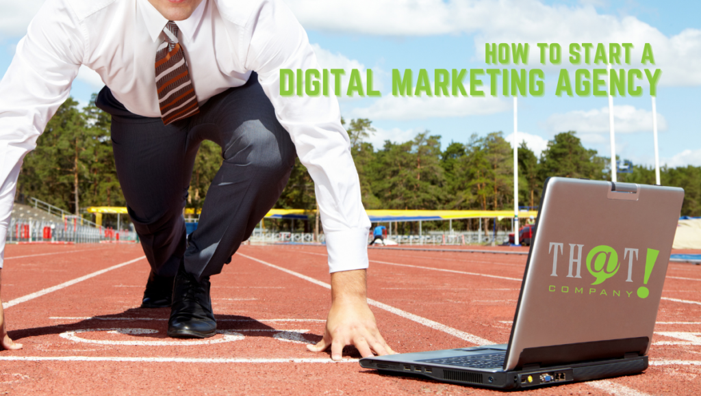 How to Start a Digital Agency | Man Starting to Run in Front of Laptop