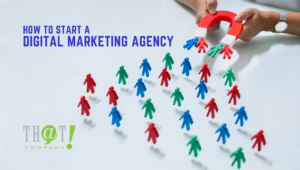 Generating Leads for Your Digital Agency | Little People Being attracted to Magnet