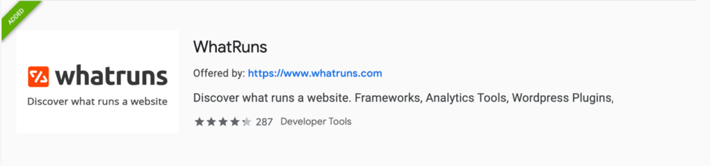 Web Dev Productivity | WhatRuns