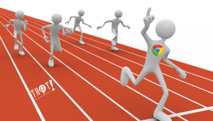 Google Has the Lead Over Other Search Engines | Cartoon Winning Race