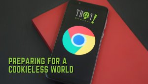Preparing Yourself For The Upcoming Cookieless World | Google Chrome Logo on a Smartphone