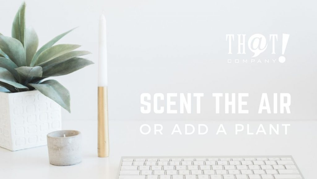 Enjoy Your Remote Workspace with Scent or Plants