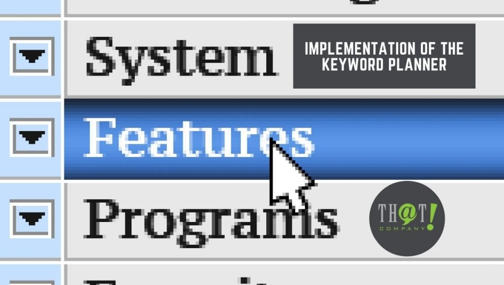 Make Use of The Features in the Keyword Planner