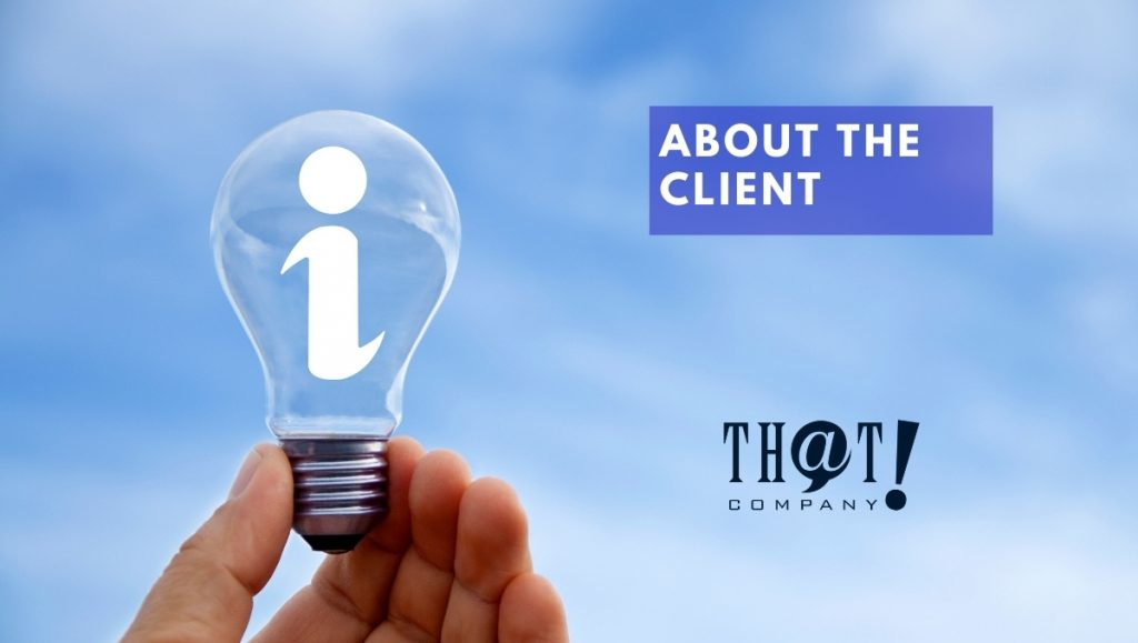 """About the Client's Search Engine Optimization Campaign 