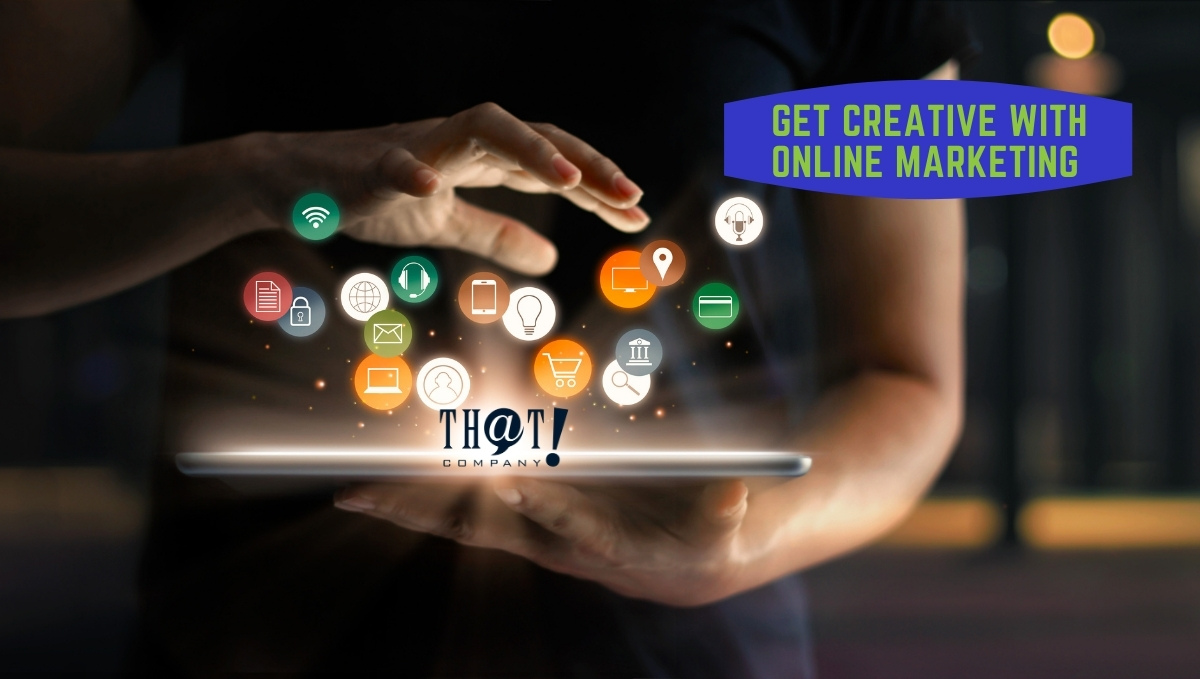 Learn How to Be Creative With Online Marketing | App Logos Coming Out of Screen