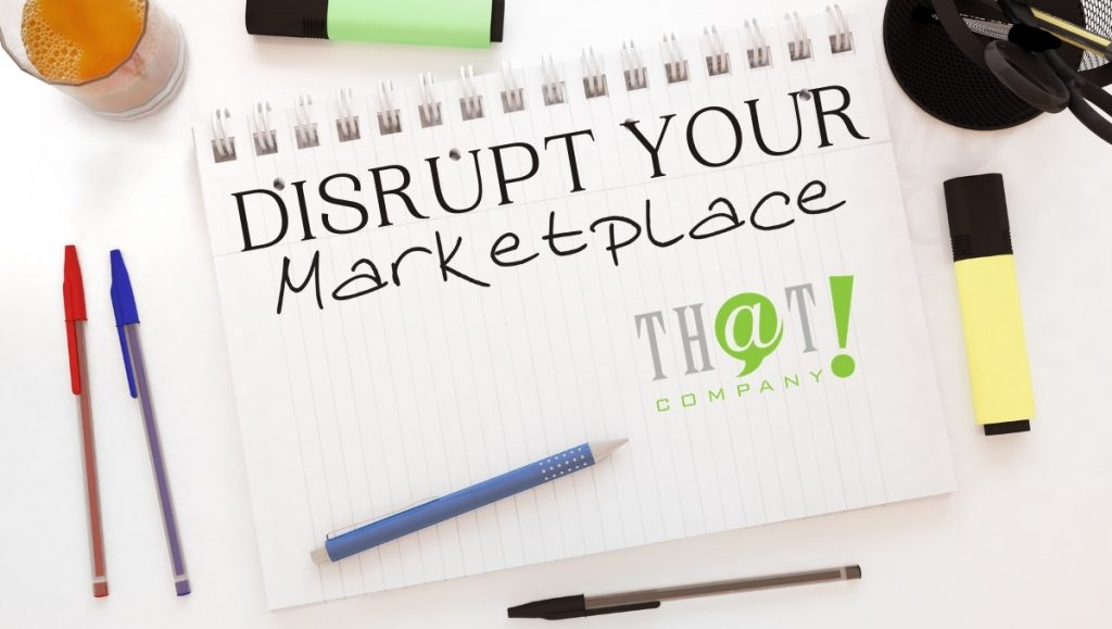Disrupt Your Marketplace | Paper With Marketplace Written on it