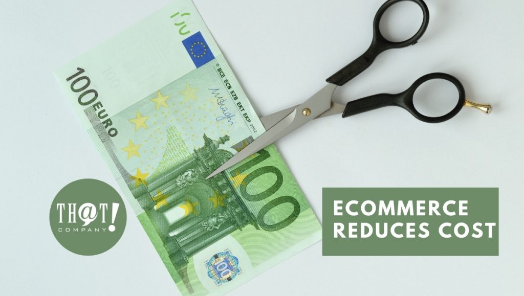 Ecommerce Reduces Cost of Operating | Scissors Cutting a Euro