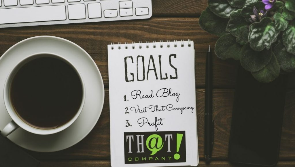 Choose Your Marketing Goals | Notepad and List of Goals