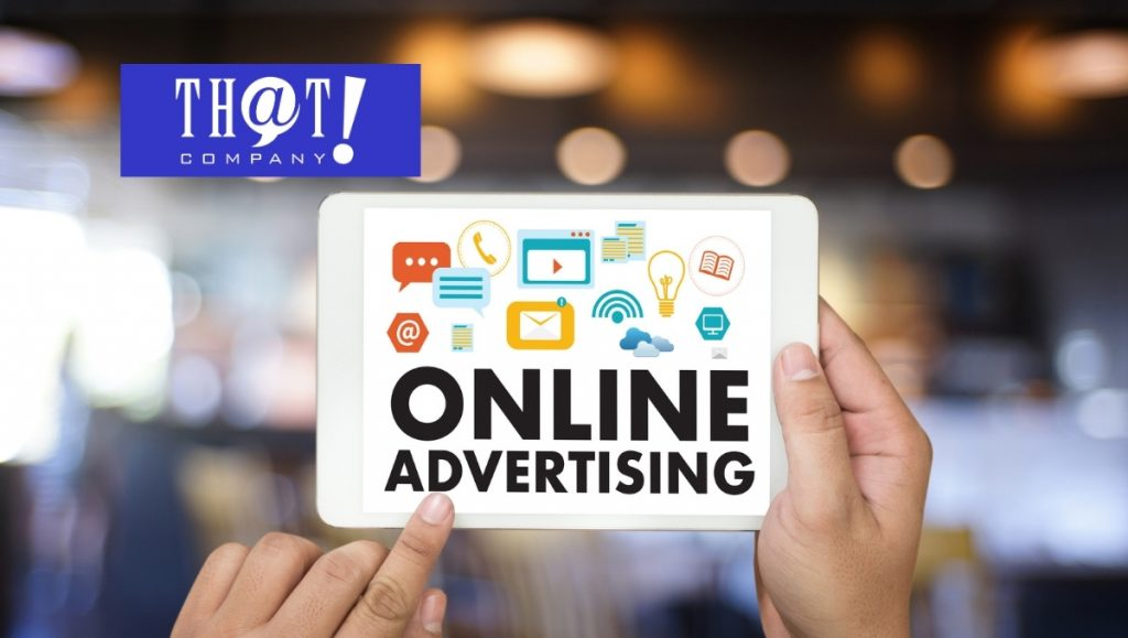 Online Advertising VS Physical advertising | Person Holding Up Tablet With Online Advertising on It