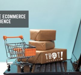 Online eCommerce Experience | Small boxes and Shopping Cart on Laptop