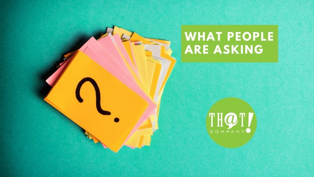 What People Are Asking about Google My Business | Stack of Booklets With Question Mark on Cover
