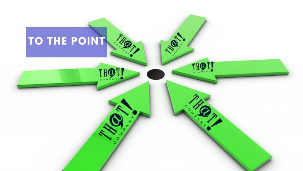 To the Point of the Search Engine Optimization Success | Green Arrows Pointing To Black Dot