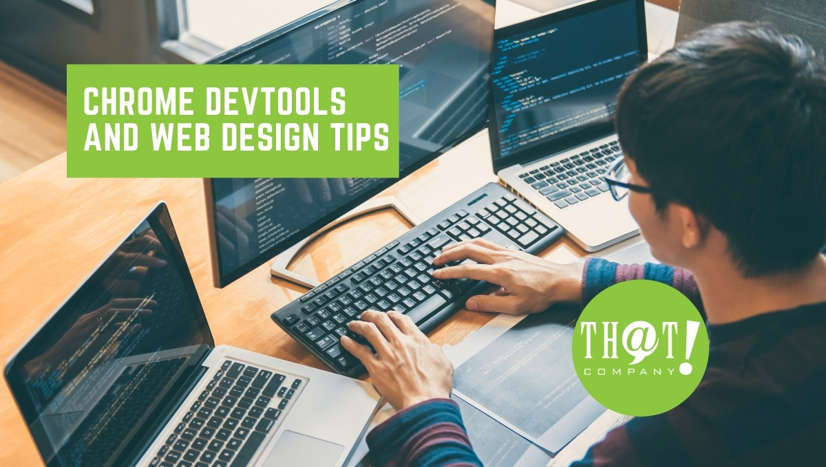 Chrome Devtools and Web Design Tips and Tricks   Man Coding On Computer