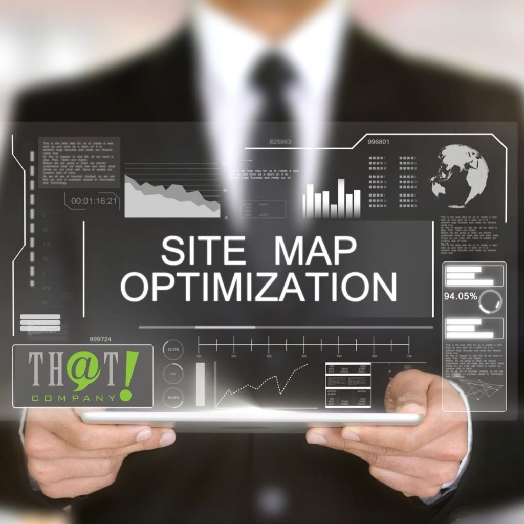 Sitemaps and Site Optimization | Futuristic Screen Tablet