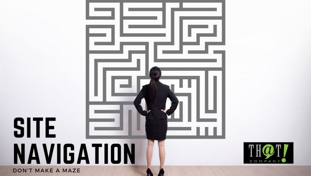 Site Navigation and Site Optimization | Business Woman Looking at a Maze