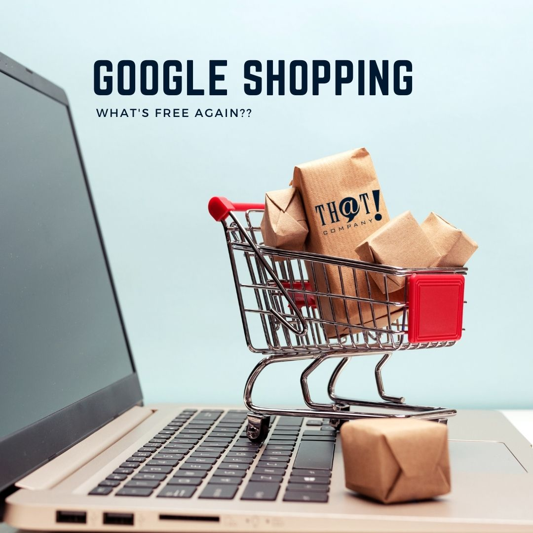 Google Shopping Changes | Mini Shopping Cart on Top of a Laptop