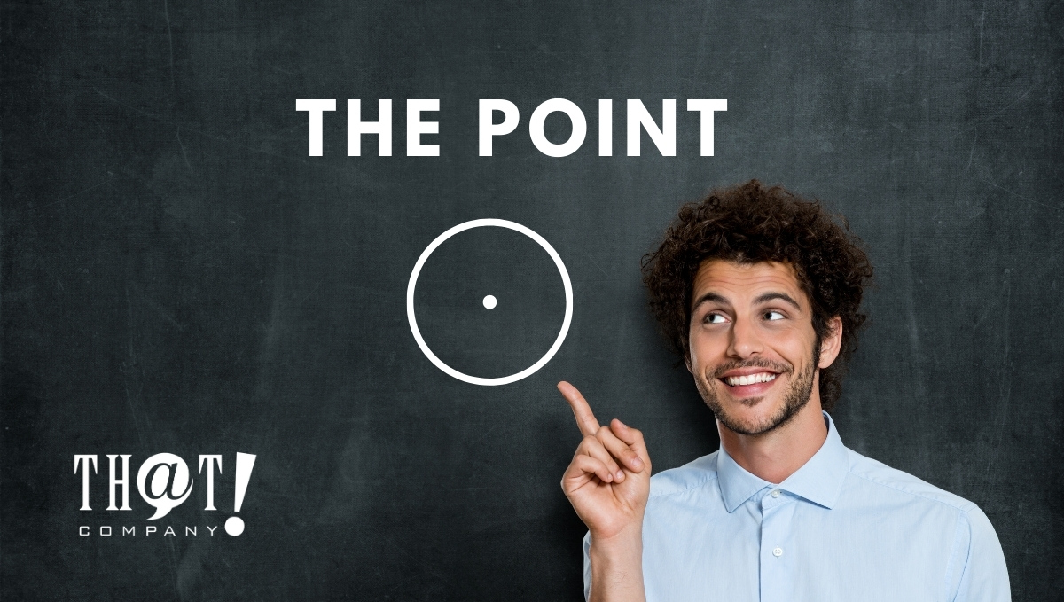 The Point And How It Relates To Google Stadia   Man Pointing To Circle With Dot In Middle