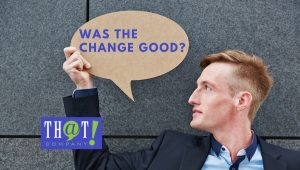 Was The Change Good For Microsoft Advertisements | Man Holding Cardboard Speech Bubble