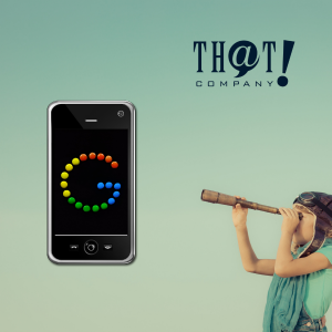 Those Who Need SEO Should Focus on Mobile | Girl Looking Through Telescope at Mobile Phone