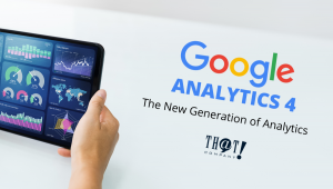 The New Generation of Analytics is GA4 | Person Holding a Tablet Viewing Traffic Data