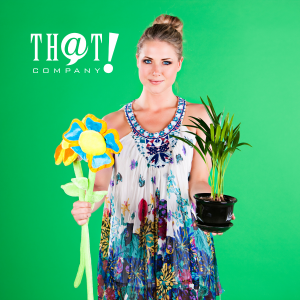 Compare Digital and Physical Stores | Woman Holding Fake and Real Plant