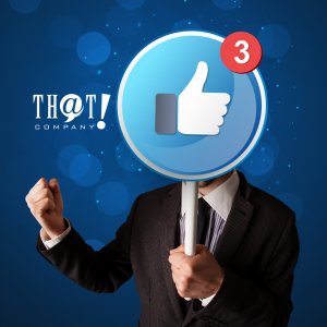 Facebook Marketing | A Person Holding A Circle Like Sign Banner