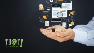 Online Marketing | A Hand With A Floating Icons That Signifies Online Marketing