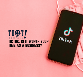 Tiktok For Business | A Phone with Tiktok App and A Face Mask