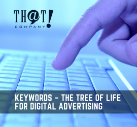 Keywords for Digital Advertising | A Finger Pointing at A Keyboard
