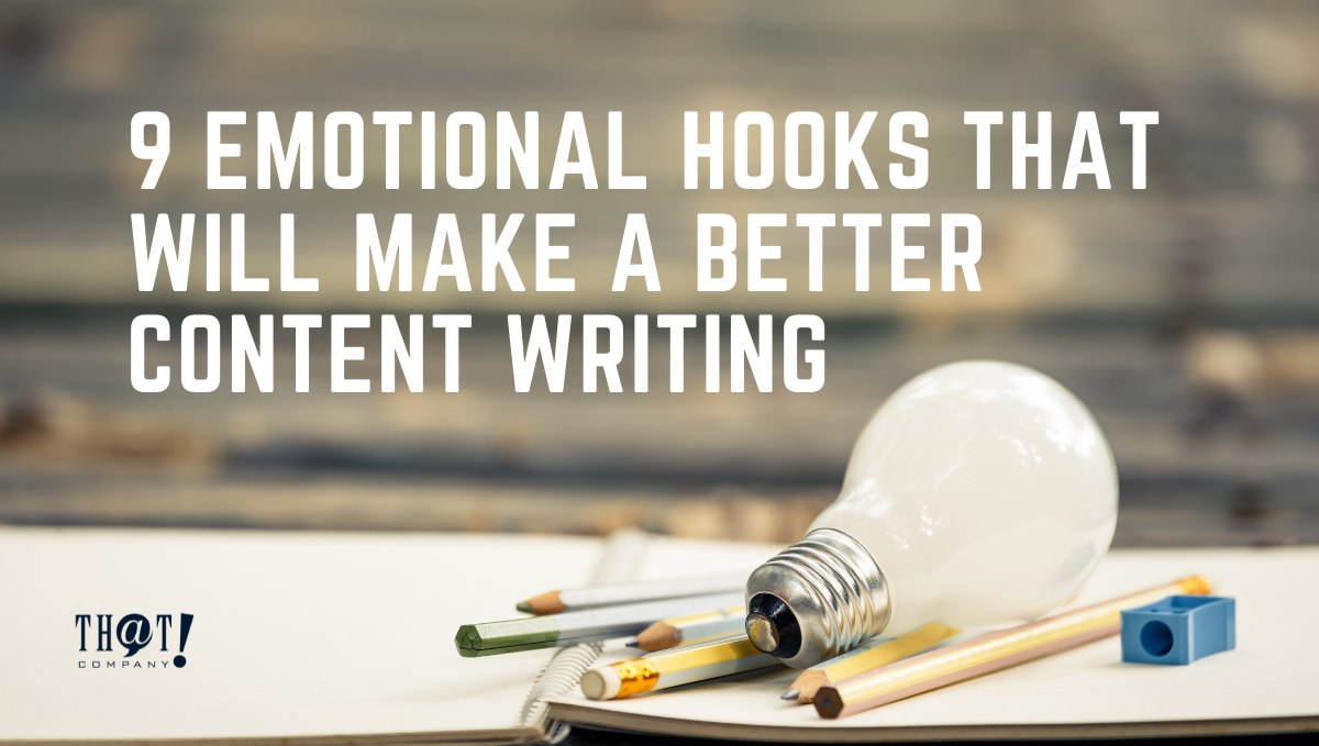 Emotional Hooks For Content Writing | A Light Bulb, Pencils and Sharpener On The Top of A Notebook