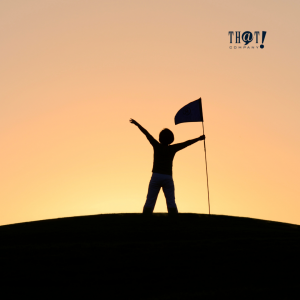Conversion-Focused Web Designing   A Silhouette of A Man Holding A Flag