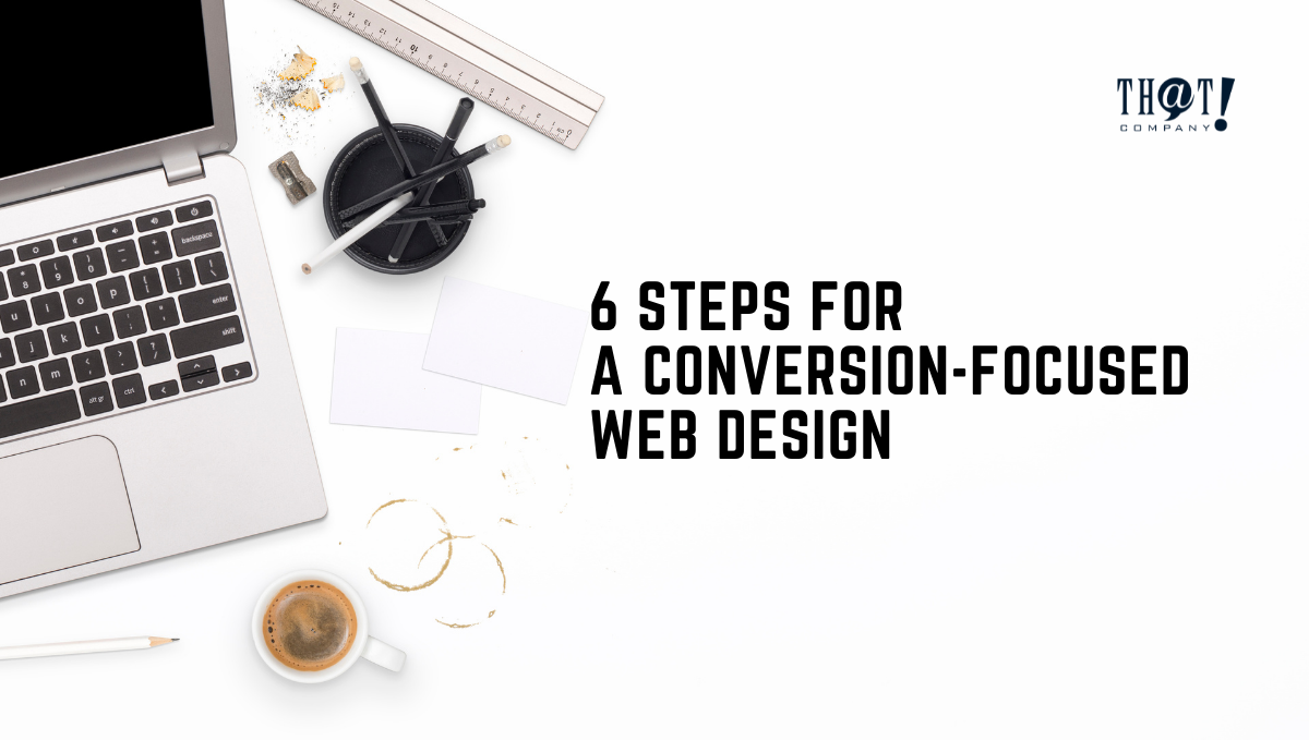 Conversion Focused Web Design   A Top View of White Desk With Laptop, Ruler sharpener and Pencils With Coffee On The side