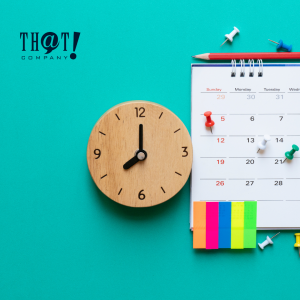 Planning | A Calendar And A Clock With Some Colored Sticky Pads and Pins