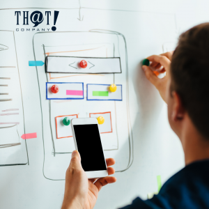 Website Designing   A Man In Front of A Whiteboard Doing A Mobile Website Design