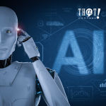 What AI Writing Tool Is the Best? | A Picture of Robot Pointing At Its Head