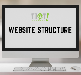 Website Structure | A White Desktop at the Table