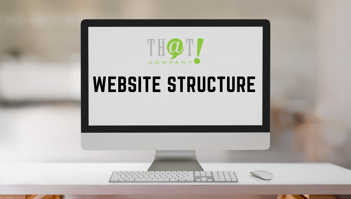 Website Structure   A White Desktop at the Table